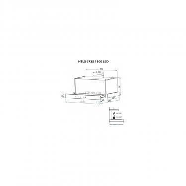Вытяжка кухонная Minola HTLS 6735 BL 1100 LED Фото 10