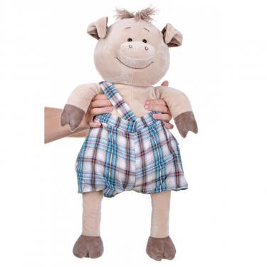 Мягкая игрушка Same Toy Свинка в комбинезоне 60 см Фото 2