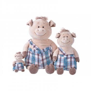 Мягкая игрушка Same Toy Свинка в комбинезоне 60 см Фото 3