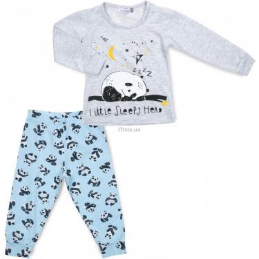 Пижама Matilda с пандами (12122-2-116B-gray) - фото 1