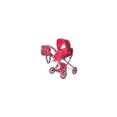 Коляска для кукол Melogo pink/black Фото
