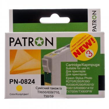 Картридж PATRON для EPSON R270/290/390/RX590 YELLOW (PN-0824) (CI-EPS-T08144-Y3-PN) - фото 2