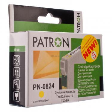 Картридж PATRON для EPSON R270/290/390/RX590 YELLOW (PN-0824) (CI-EPS-T08144-Y3-PN) - фото 1