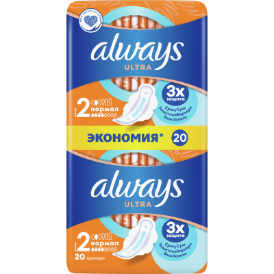 Гигиенические прокладки Always Ultra Normal Plus 20 шт (4015400041627)