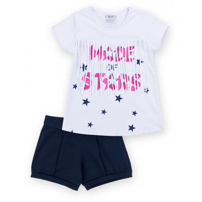 Набор детской одежды Breeze футболка со звездочками с шортами (9036-98G-white)