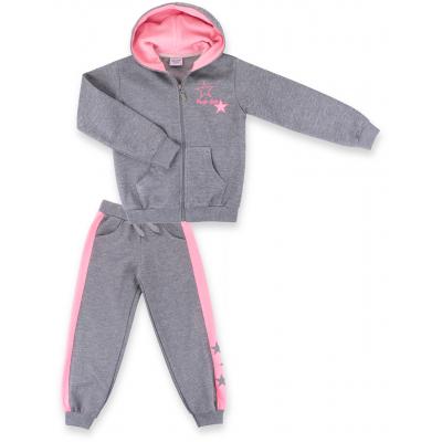 Спортивный костюм Breeze с розовыми лампасами (9553-140G-gray)